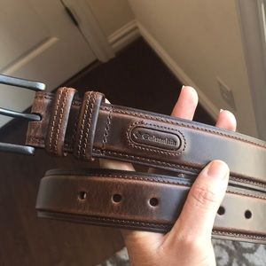 Columbia brown leather belt